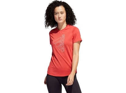 adidas Womens Tech Badge Of Sport T Shirt