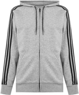 adidas 3 Stripes Full Zip Hoodie Mens