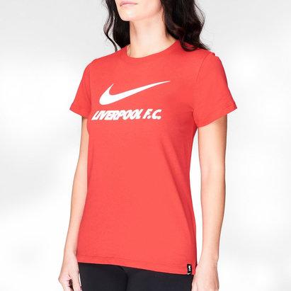 Nike Liverpool Swoosh T Shirt 20/21 Ladies