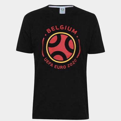 UEFA Euro 2020 Belgium Graphic T Shirt Mens
