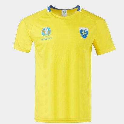 UEFA Euro 2020 Sweden Polyester T Shirt Mens