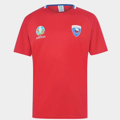 UEFA Euro 2020 Czech Republic Polyester T Shirt