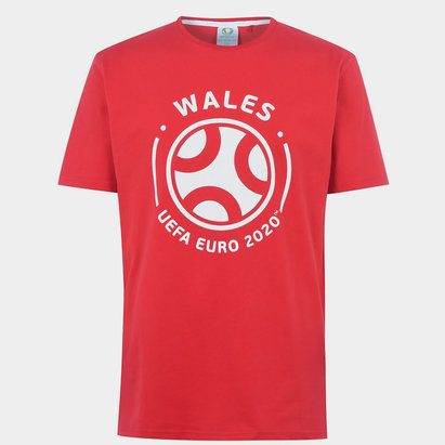 UEFA Euro 2020 Wales Graphic T Shirt Mens