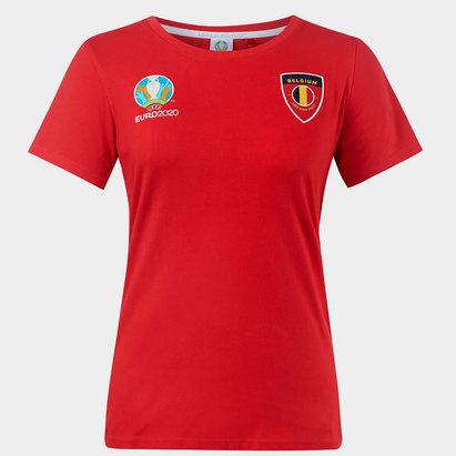 UEFA Euro 2020 Belgium Core T Shirt Ladies