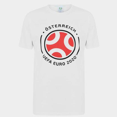 UEFA Euro 2020 Austria Graphic T Shirt Mens