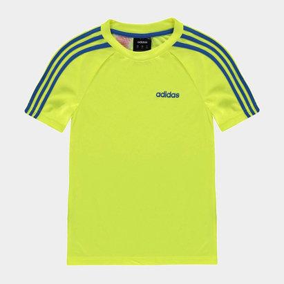 adidas 3 Stripe Sereno T Shirt Junior Boys