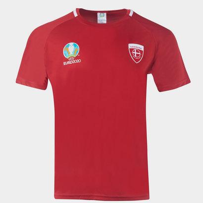 UEFA Euro 2020 Denmark Poly T Shirt