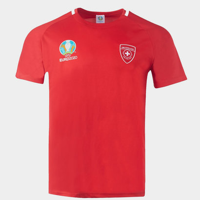 UEFA Euro 2020 Switzerland Polyester T Shirt Mens