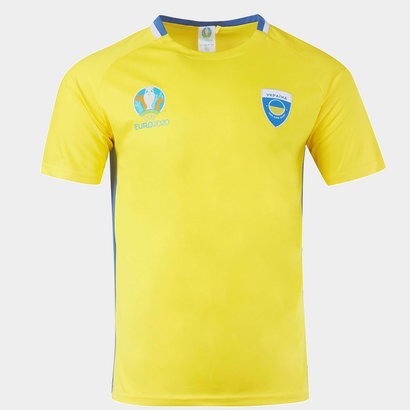 UEFA Euro 2020 Ukraine Poly T Shirt Mens