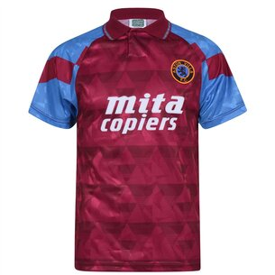 Score Draw Aston Villa 1990 Retro Replica Football Shirt