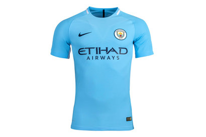Nike Manchester City 17/18 Home Players Match Day S/S Football Shirt