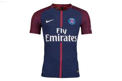 Nike Paris Saint-Germain 17/18 Home Players Match Day S/S Football Shirt