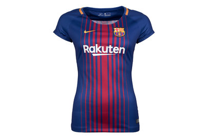 Nike FC Barcelona 17/18 Ladies Home Replica S/S Football Shirt