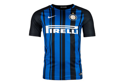 Nike Inter Milan 17/18 Home Replica S/S Football Shirt