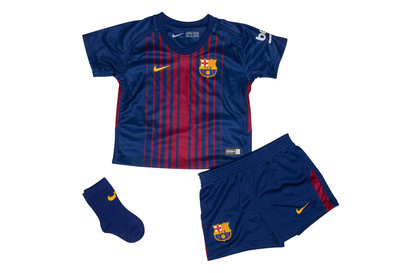 Nike FC Barcelona 17/18 Infants Home Unsponsored Football Kit