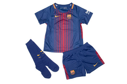 Nike FC Barcelona 17/18 Little Kids Home Unsponsored Football Kit