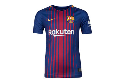Nike FC Barcelona 17/18 Kids Home Replica S/S Football Shirt