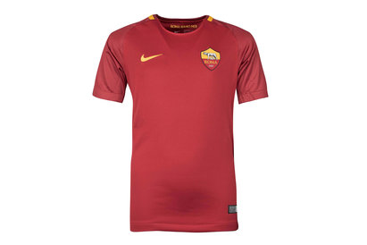 Nike AS Roma 17/18 Kids Home Replica S/S Football Shirt