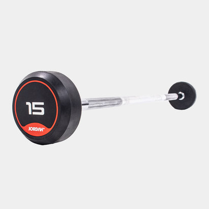 Jordan 15kg ClassicRubber Barbell with Straight Bar