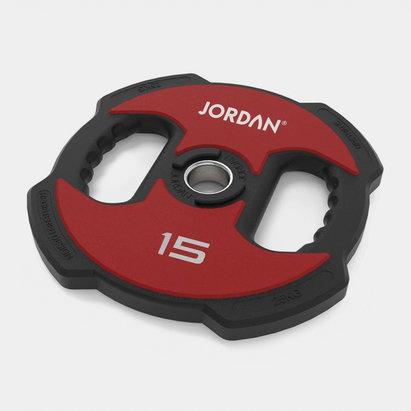 Jordan 15kg Ignite V2 Urethane Olympic Plate (red/black)
