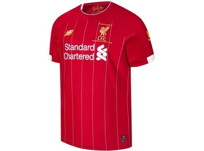 New Balance Official Liverpool Champions Home Shirt 2020