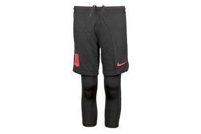 Nike Neymar Squad 2 in 1 Kids Football Training Shorts