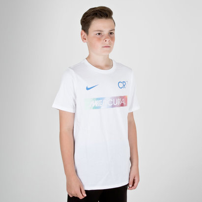 Nike Ronaldo CR7 Kids Dry Fit S/S Football T-Shirt