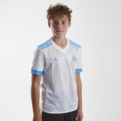 adidas Olympic Marseille 17/18 Kids Home S/S Replica Football Shirt