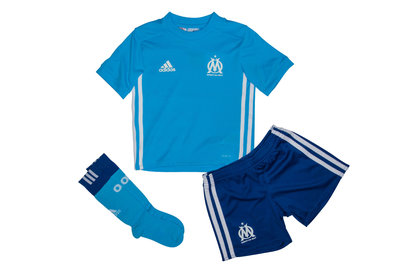 adidas Olympic Marseille 17/18 Mini Kids Away Football Kit