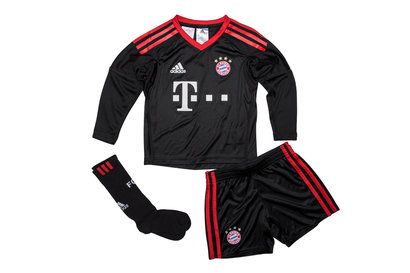 adidas Bayern Munich 17/18 Mini Kids Home Goalkeepers Kit