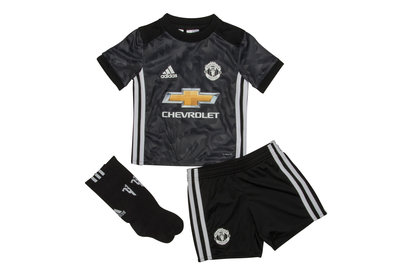 adidas Manchester United 17/18 Away Mini Kids Replica Football Kit
