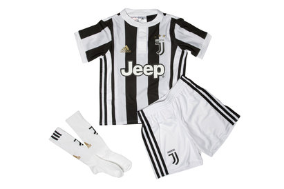 adidas Juventus 17/18 Mini Kids Home Football Replica Kit