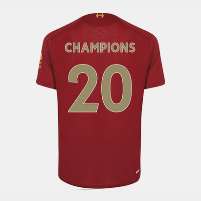 New Balance Liverpool Home Champions Back Print Shirt