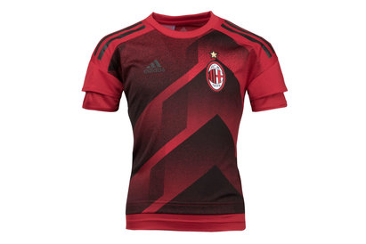 adidas AC Milan 17/18 Kids Pre-Match Football Training Shirt