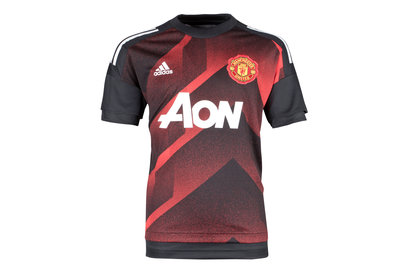 adidas Manchester United 17/18 Kids Pre-Match Football Training Shirt