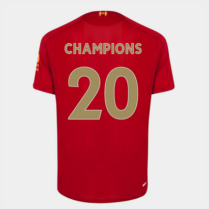 New Balance Liverpool Home Champions Back Print Shirt Junior