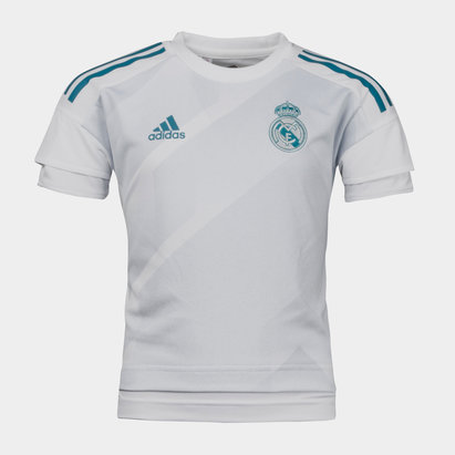 de2457ddb53 adidas Real Madrid 17 18 Ladies Home S S Replica Football Shirt ...