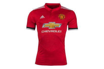 adidas Manchester United 17/18 Home S/S Replica Football Shirt