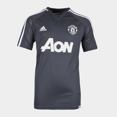 adidas Manchester United 17/18 Kids S/S Football Training Shirt