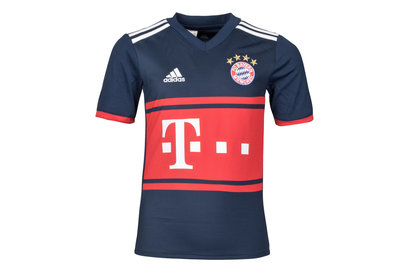 adidas Bayern Munich 17/18 Away Kids S/S Replica Football Shirt