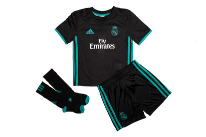 adidas Real Madrid 17/18 Mini Kids Away Replica Football Kit