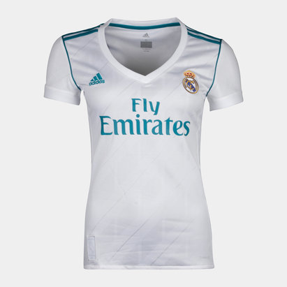 cb71c15e2 adidas Real Madrid 17 18 Ladies Home S S Replica Football Shirt