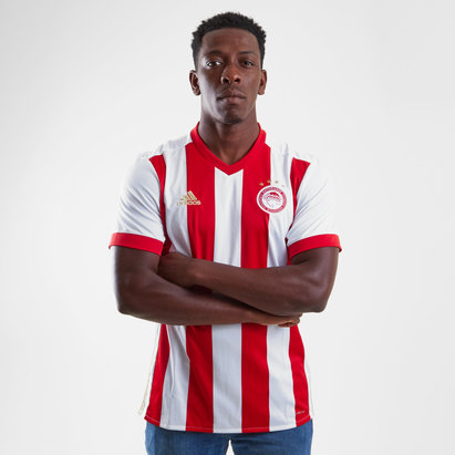 adidas Olympiacos 17/18 Home S/S Replica Football Shirt