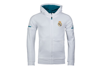 adidas Real Madrid 17/18 Anthem Squad Hooded Football Sweat