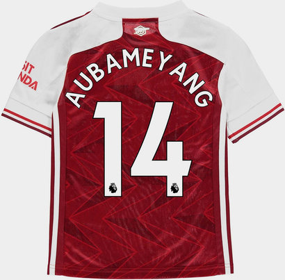 adidas Arsenal Pierre Emerick Aubameyang Home Shirt 20/21 Kids
