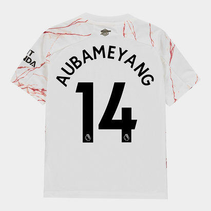 adidas Arsenal Pierre Emerick Aubameyang Away Shirt 20/21 Kids