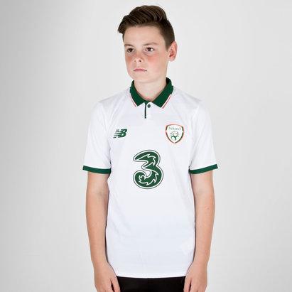 New Balance Republic of Ireland 17/18 Kids Away S/S Replica Football Shirt