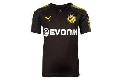 Puma Borussia Dortmund 17/18 Kids Away S/S Football Shirt