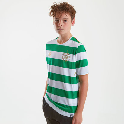New Balance Celtic FC 17/18 Kids Home S/S Replica Football Shirt