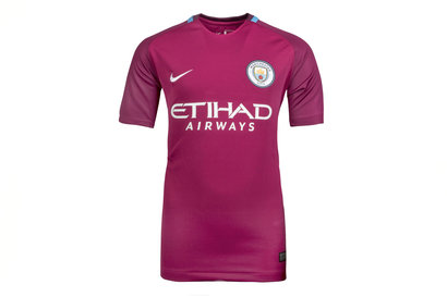 Nike Manchester City 17/18 Kids Away Replica S/S Football Shirt